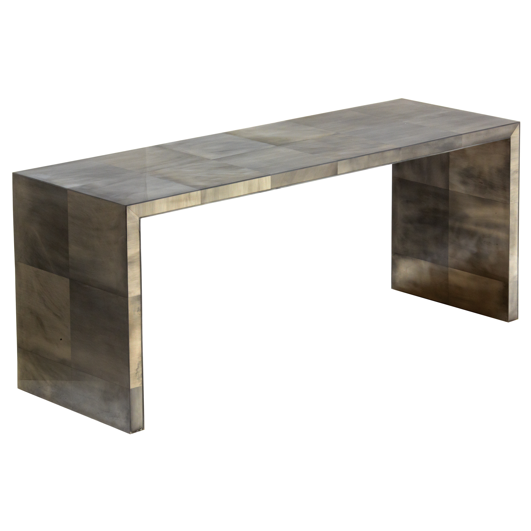 Giles Oly Grey Waterfall Console Table