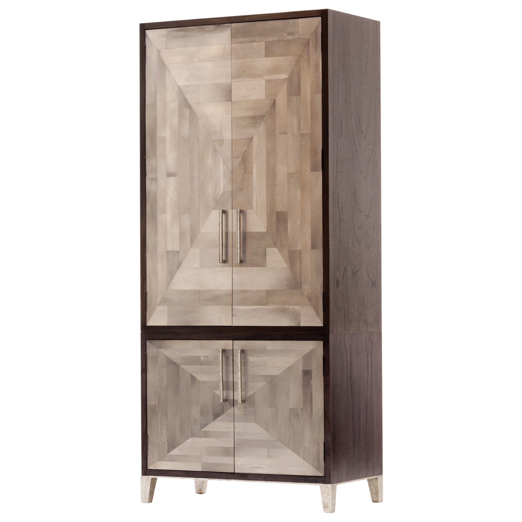 Parker Oly Mosaic Dark Brown Armoire