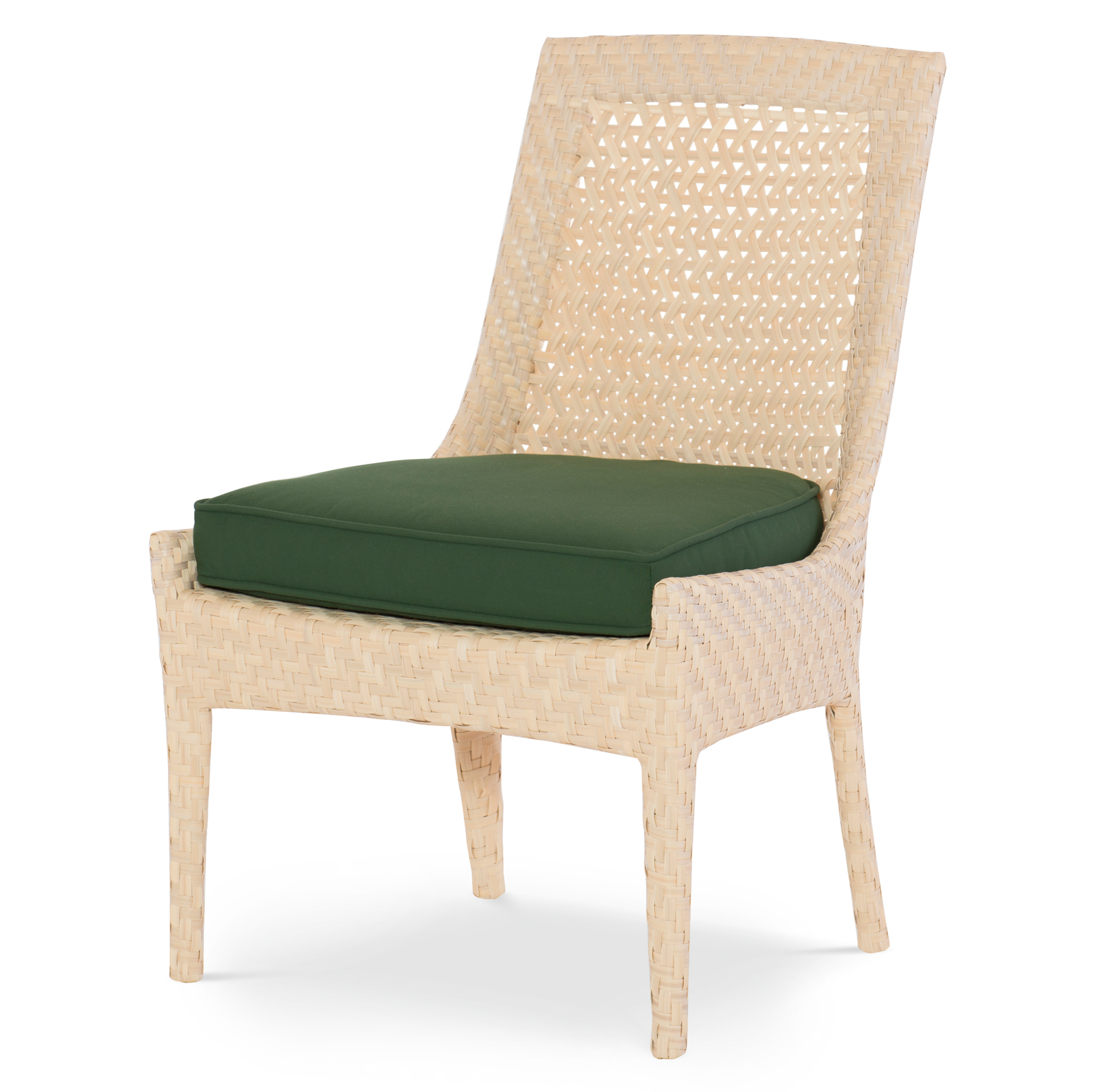 Bismark Beach Woven Sand Forest Green Dining Chair