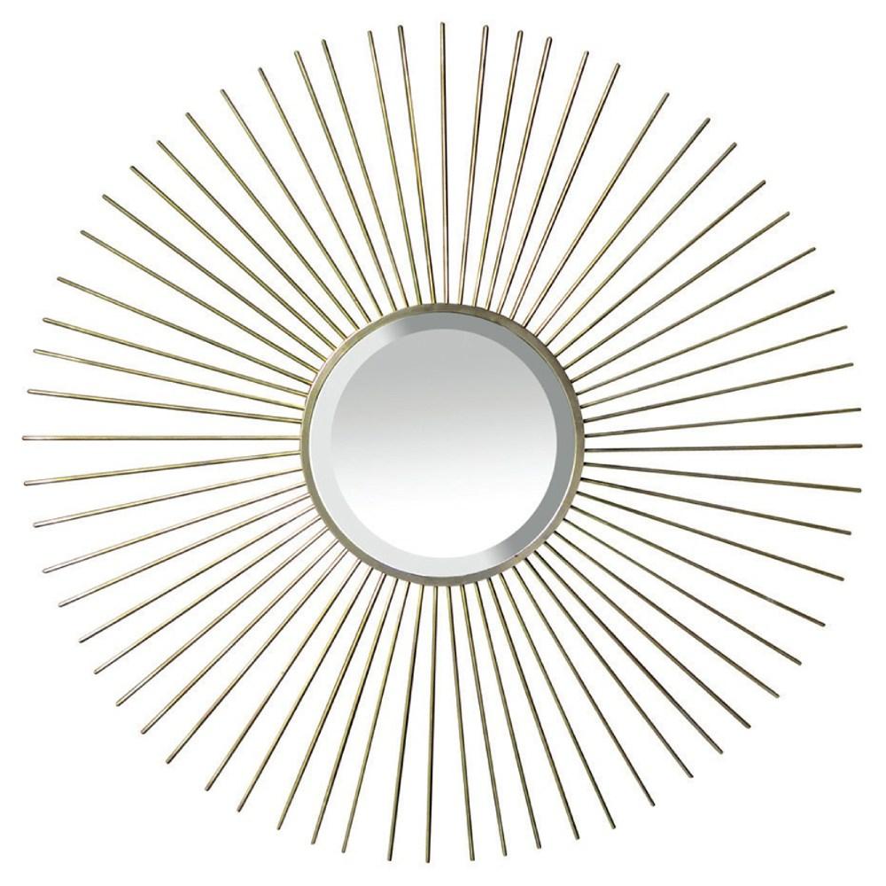 Fiona Oly Brass Sunburst Mirror - 59D
