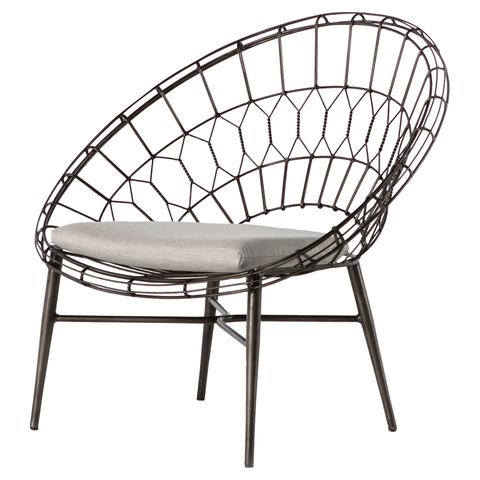 Albin Loft Sunburst Metal Outdoor Lounge Chair - Outdoor Lounge Chairs Kathy Kuo Home
