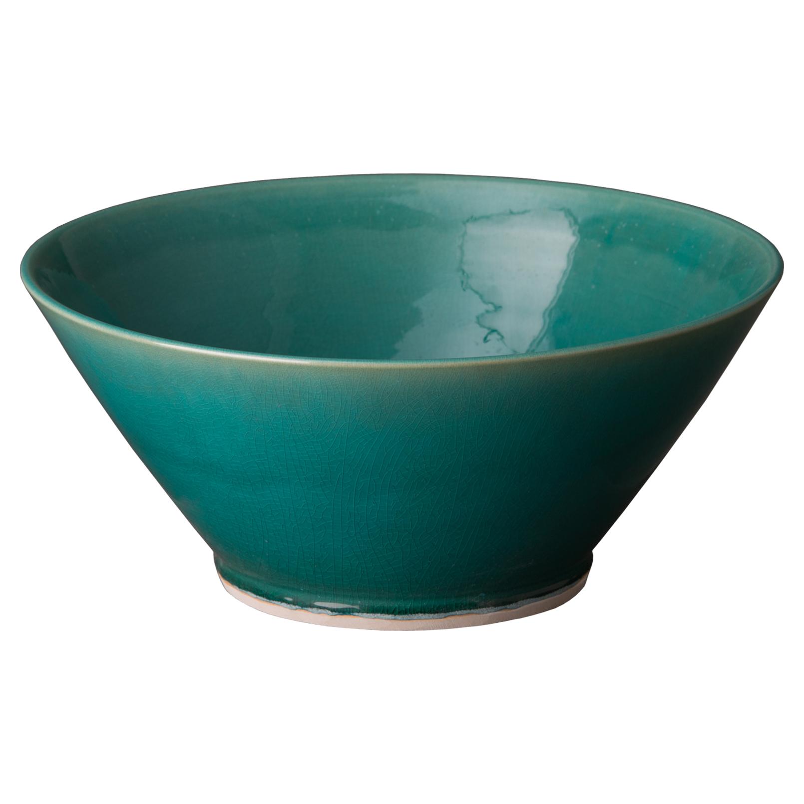 Bazaar Peacock Green Glazed Ceramic Bowl