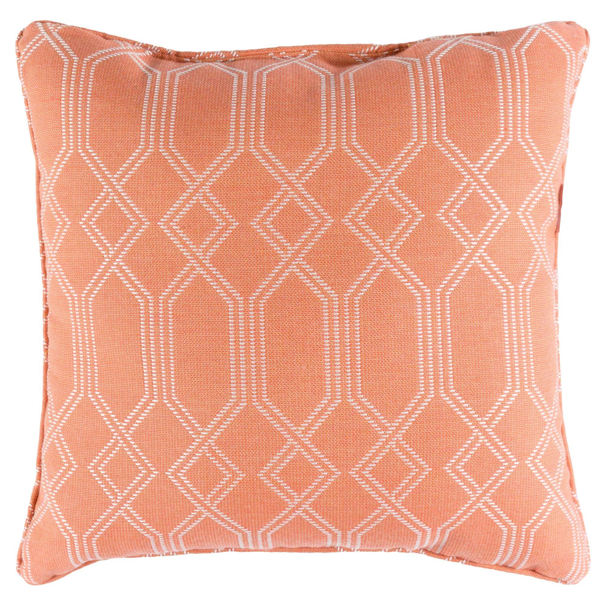 Coastal Beach Coral Trellis Outdoor Pillow - 16x16