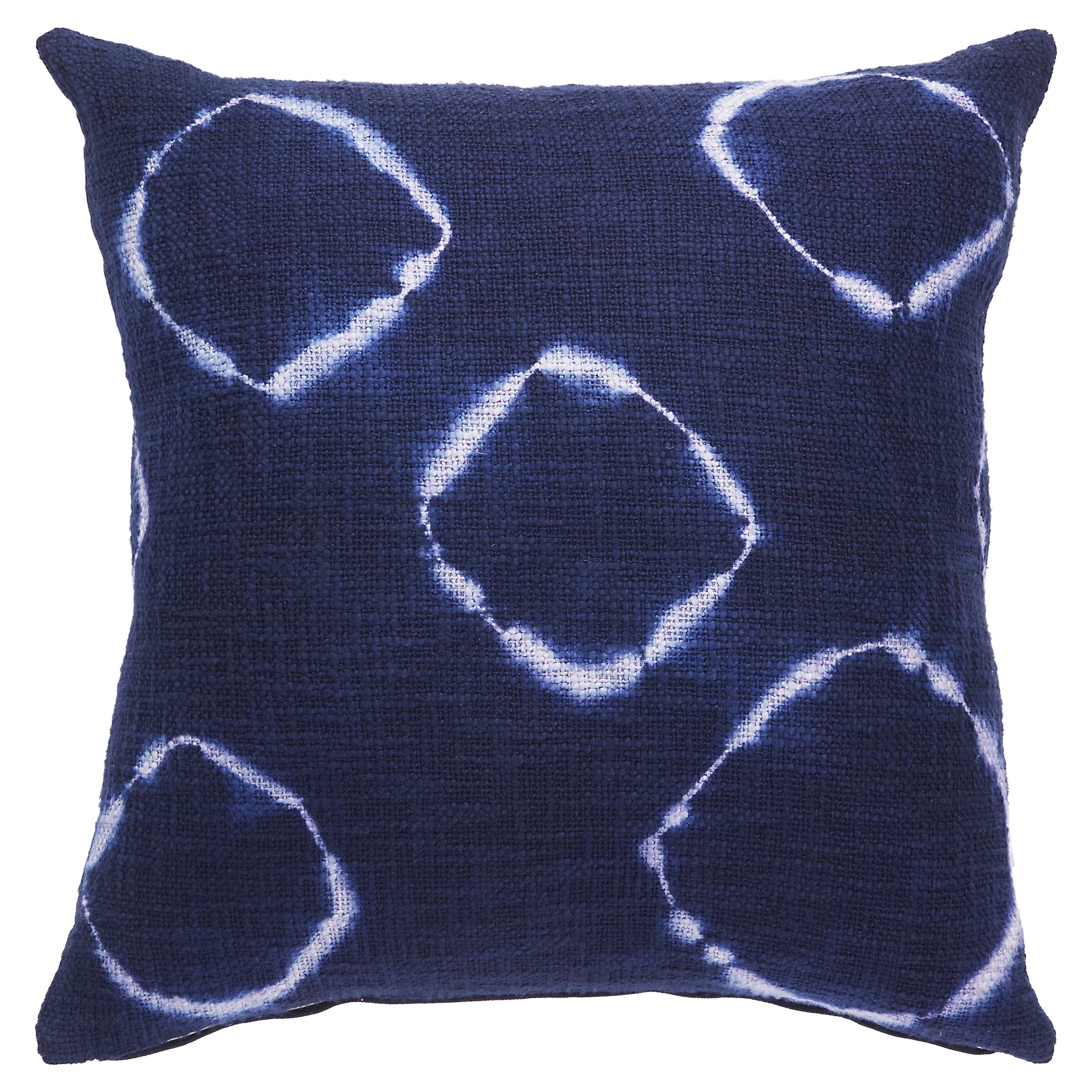 Global Ink Blue Overdyed Cotton Pillow - 20x20