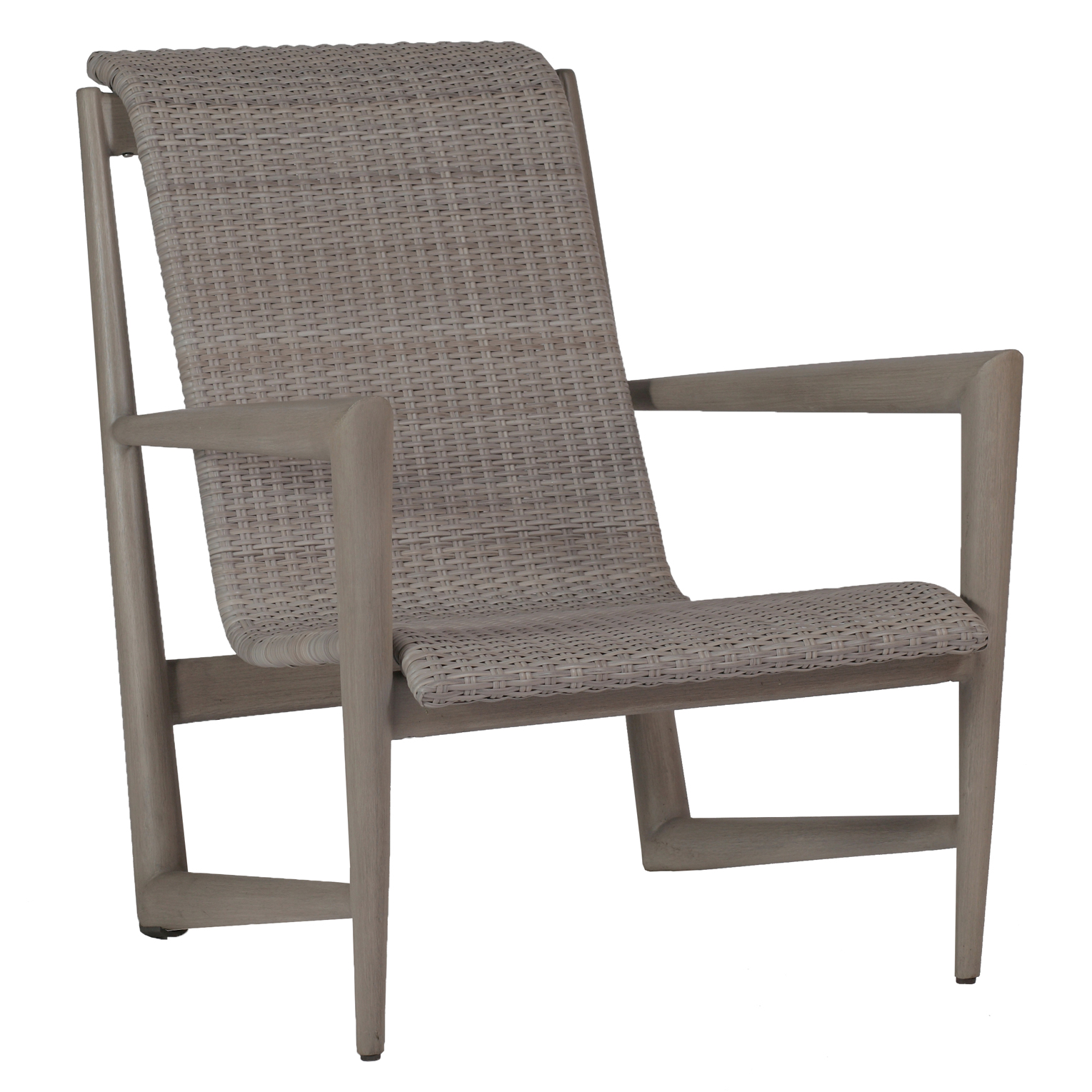 Summer Classics Wind Oyster Grey Wicker Outdoor Lounge Chair