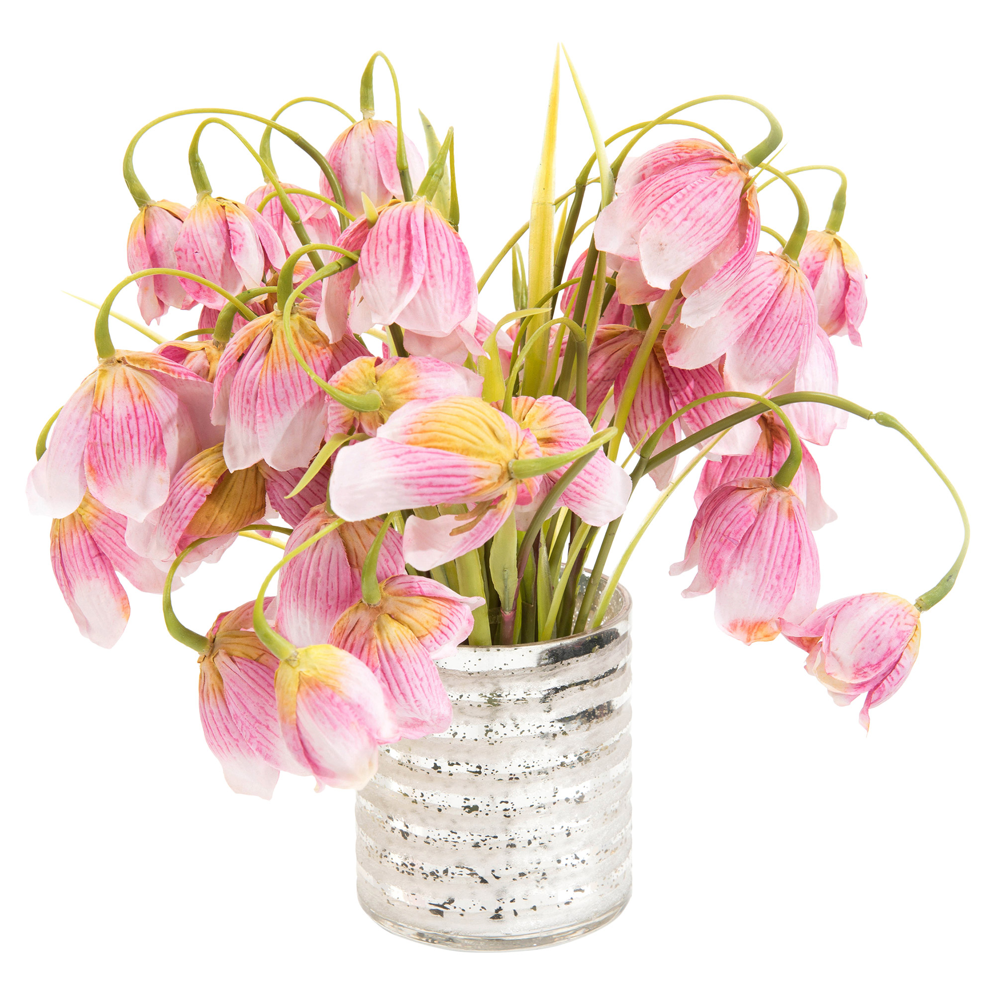 Charleston Pink Lily Faux-Floral Dew Drops Bouquet