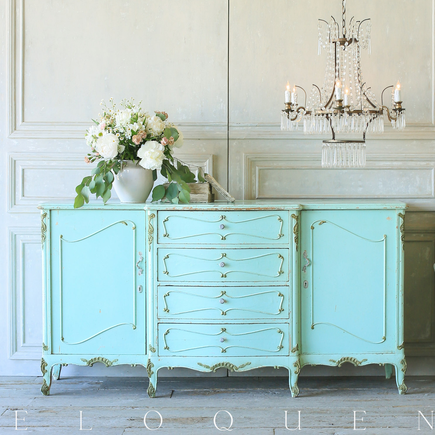 French Country Style Eloquence® Vintage Sideboard: 1940