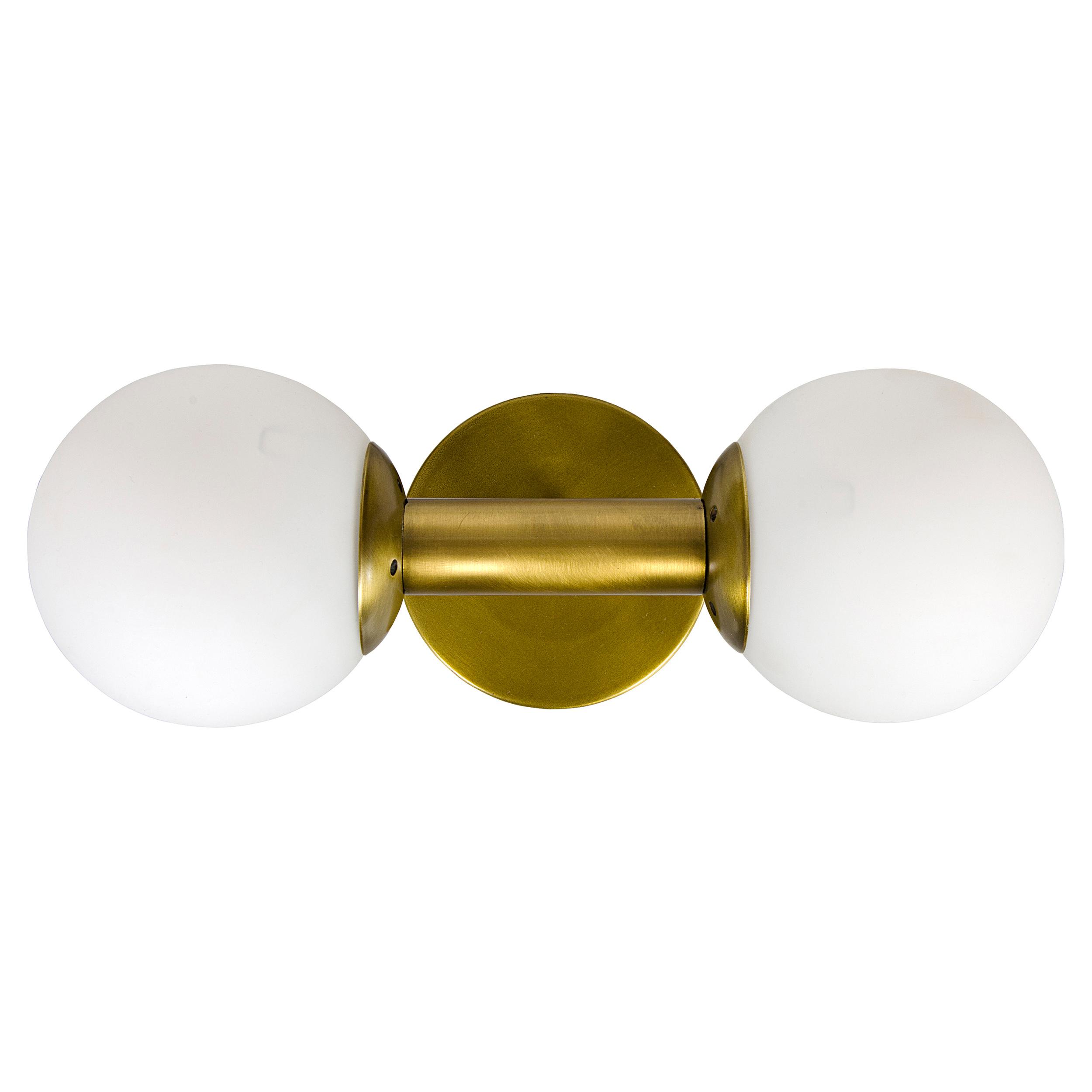 Latania Modern Classic Antique Brass Glass Globe Sconce