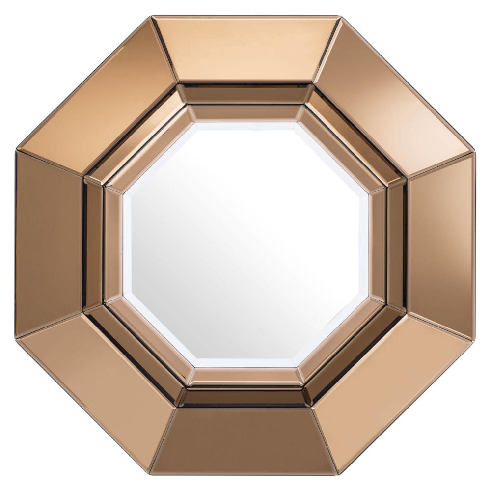 Eichholtz Chartier Modern Classic Amber Beveled Wall Mirror