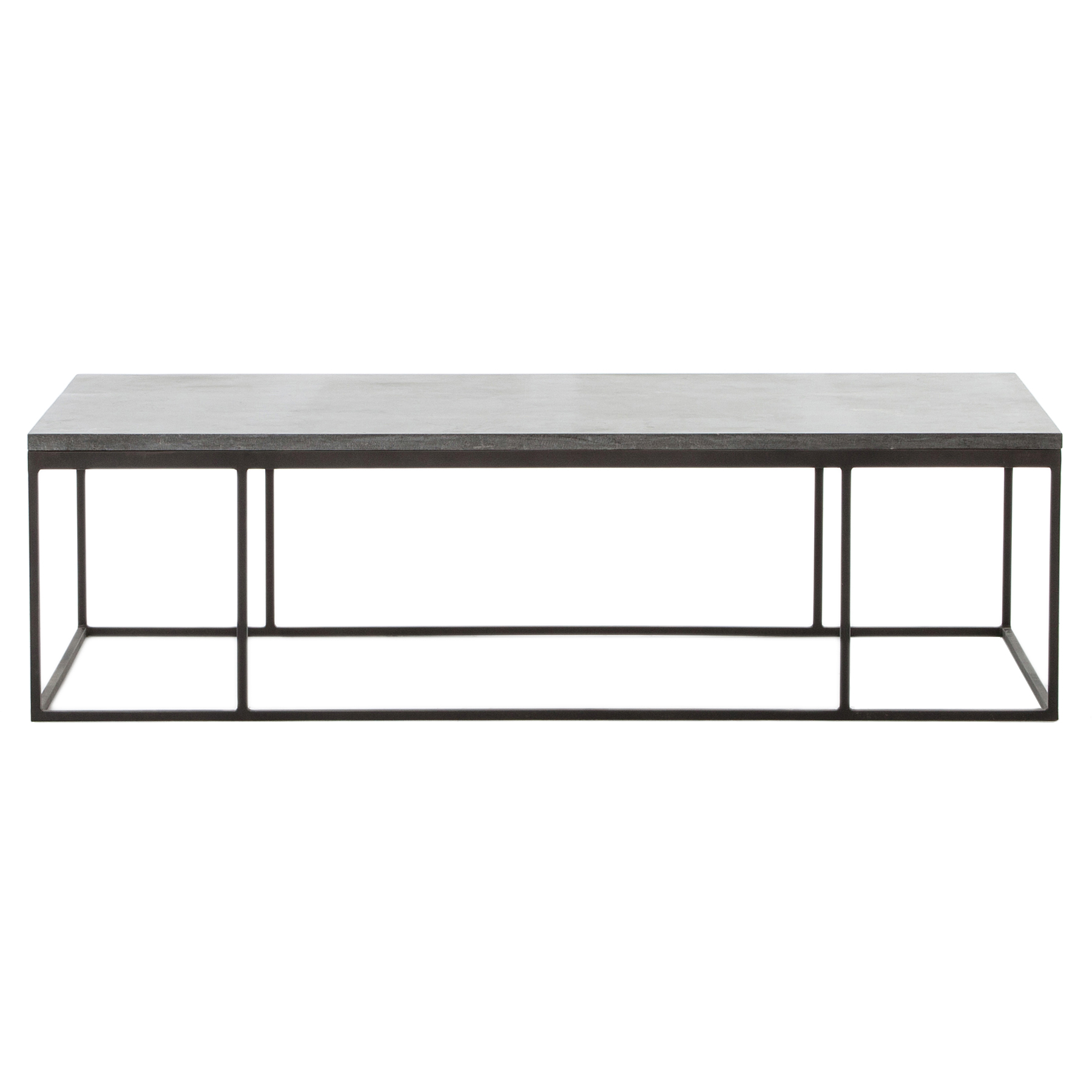 Shuler Loft Iron Bluestone Rectangular Coffee Table