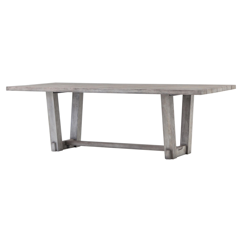 outdoor wood dining furniture. Dennison Modern Rustic Grey Teak Wood Outdoor Dining Table Furniture