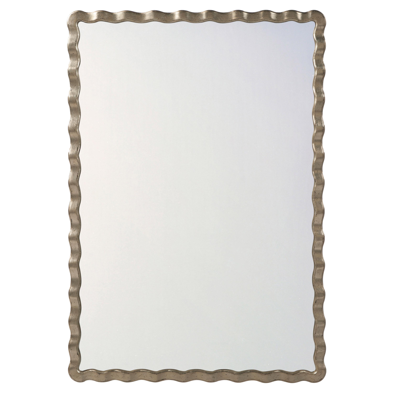 Theodore Alexander Montebello Silver Leaf Rectangular Wall Mirror