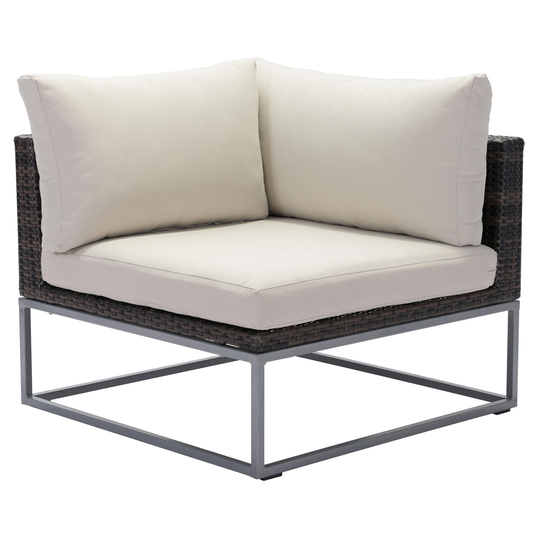 Madeline Modern Classic Aluminum Outdoor Sectional Corner Chair