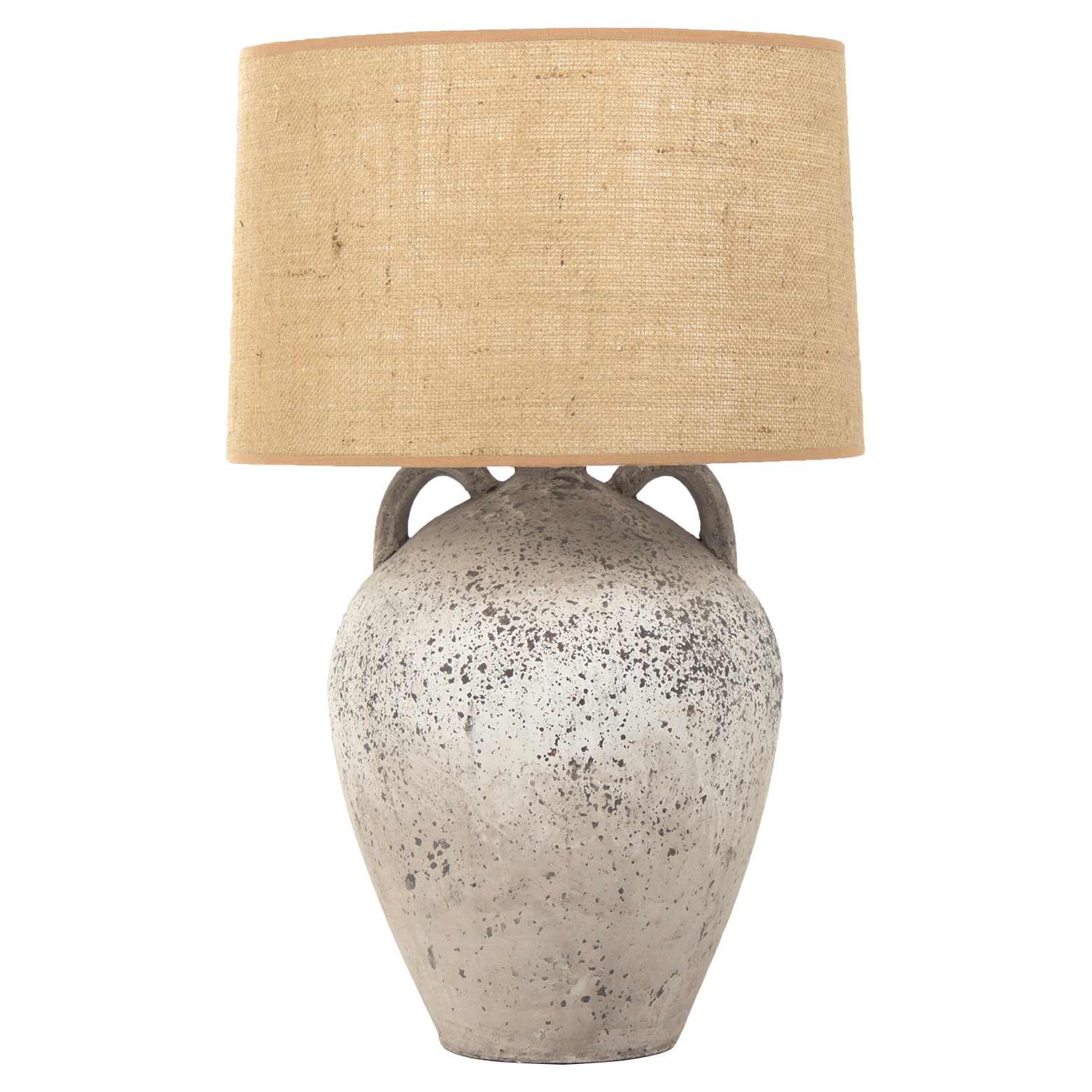 Table lamps kathy kuo home merline french country burlap shade stoneware jug lamp mozeypictures Images