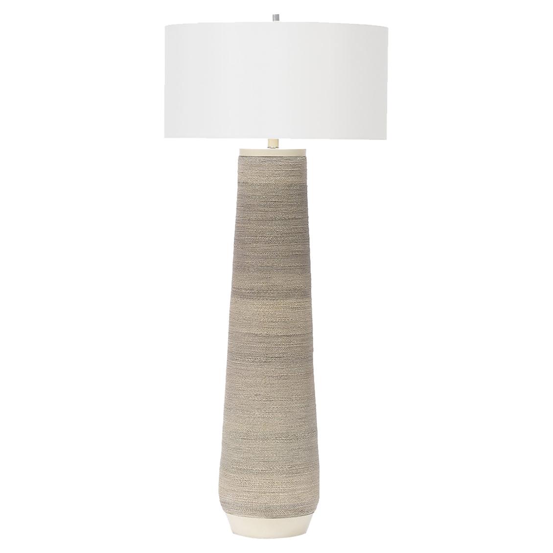 Designer floor lamps eclectic floor lamps kathy kuo home palecek aviana coastal beach rope floor lamp aloadofball Choice Image