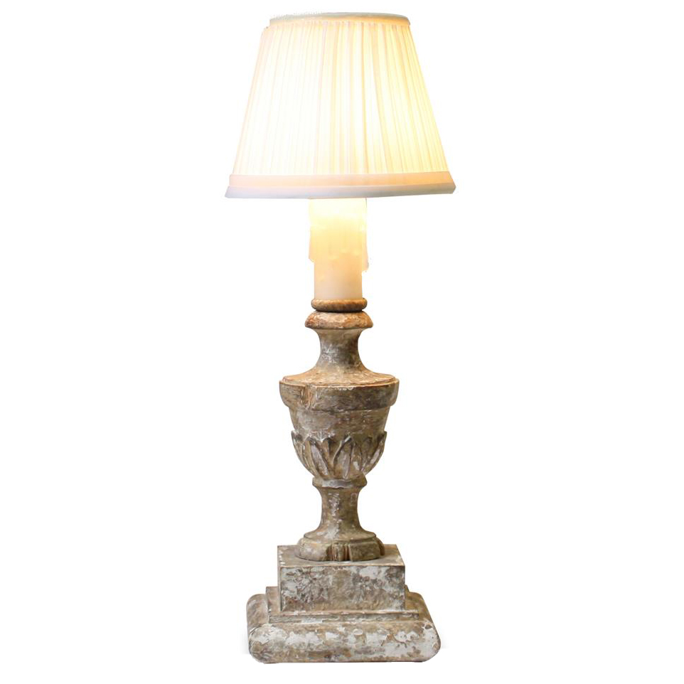 Pair Lucette Small 14 Inch French Country Pleated Shade Table Lamp