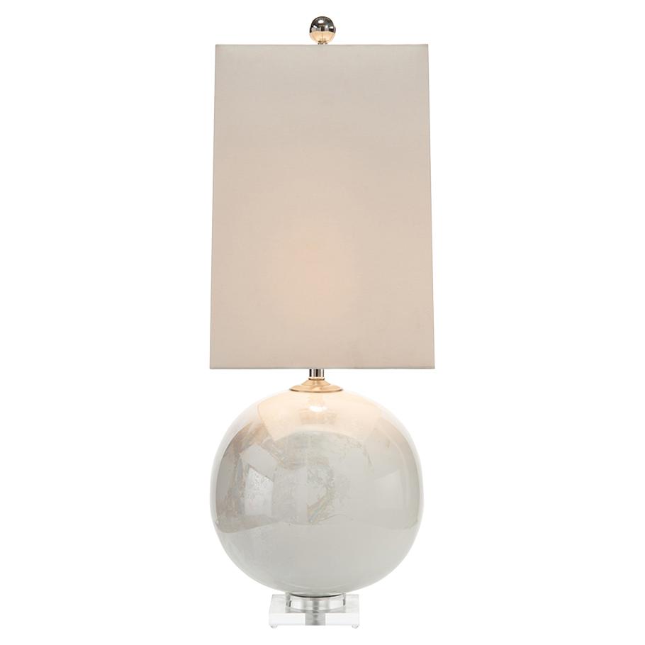 John Richard Modern Classic Iridescent Sphere Table Lamp