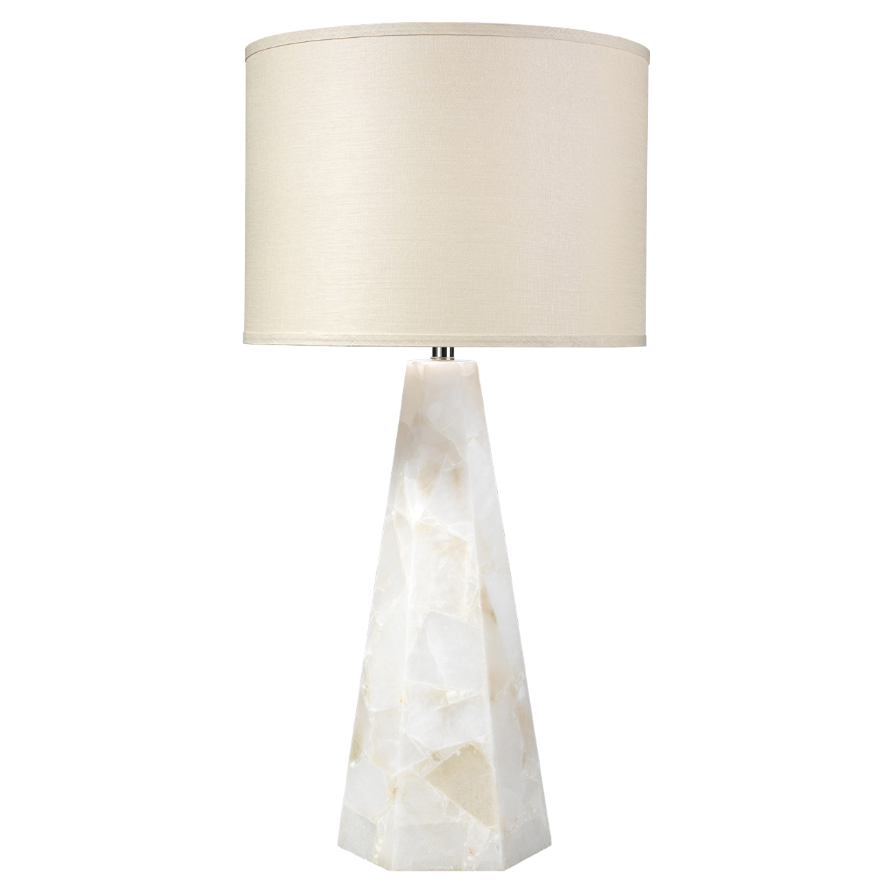 Table lamps kathy kuo home lena modern classic white alabaster beige linen shade table lamp aloadofball Images