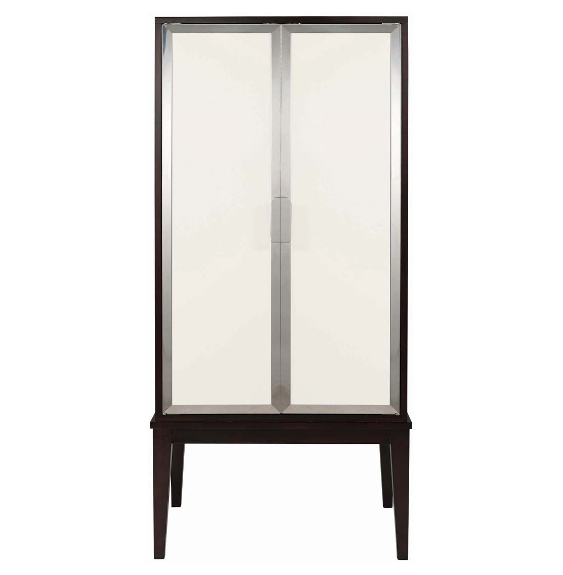 Raquel Mid Century Modern Deco Ivory Espresso Lingerie Cabinet