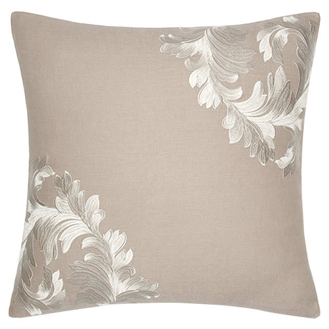 Sferra Modern Teana Decorative Pillow   Ivory Natural