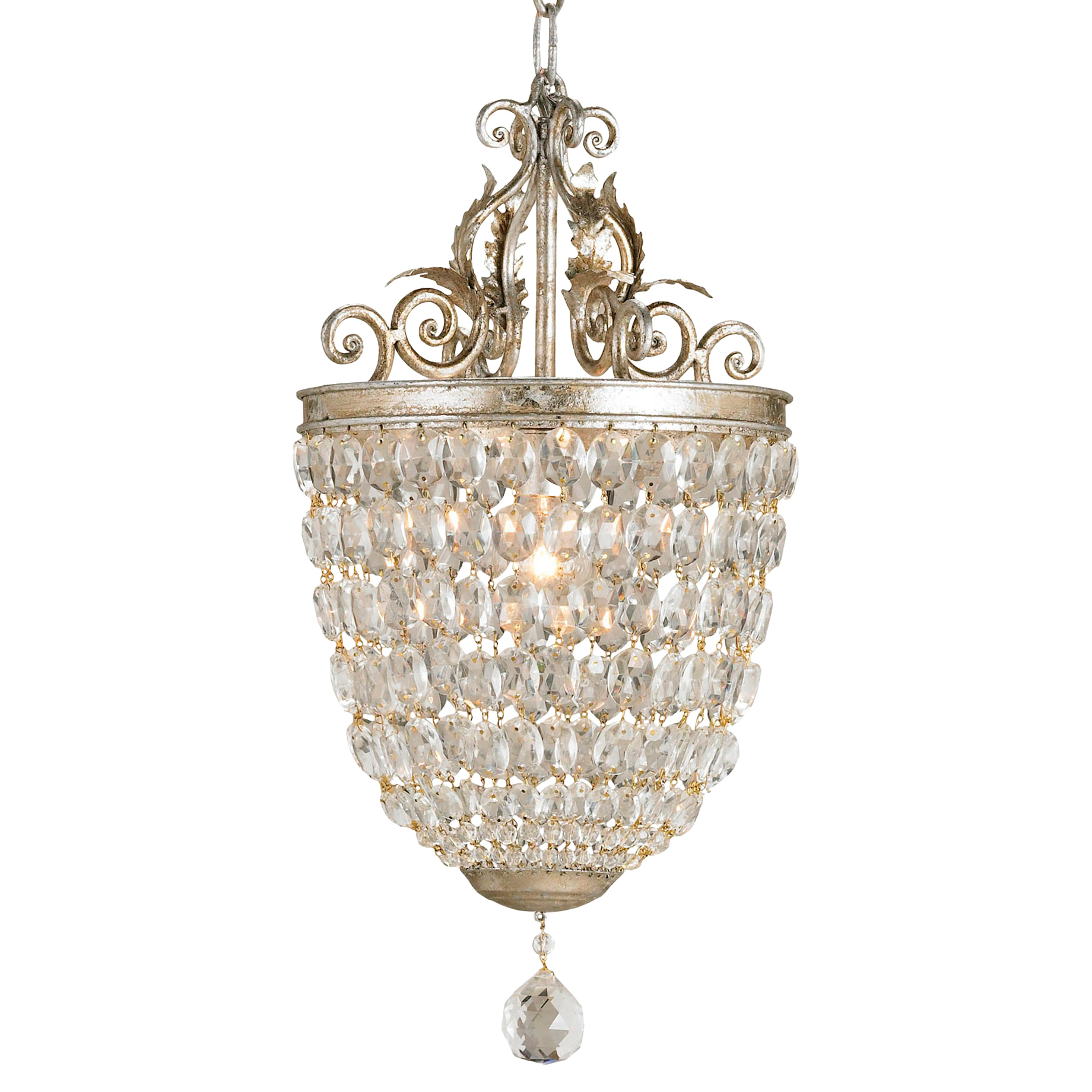 Betty Ornate Faceted Crystal Pendant with Drop Detail