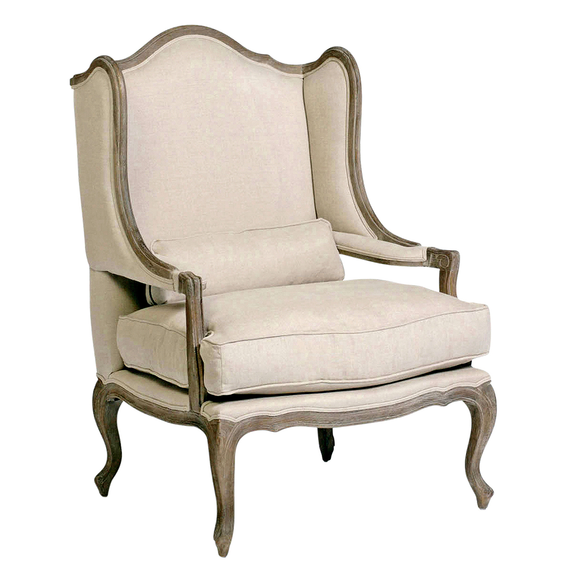 Julien Belgian Style Wingback French Provincial Arm Chair