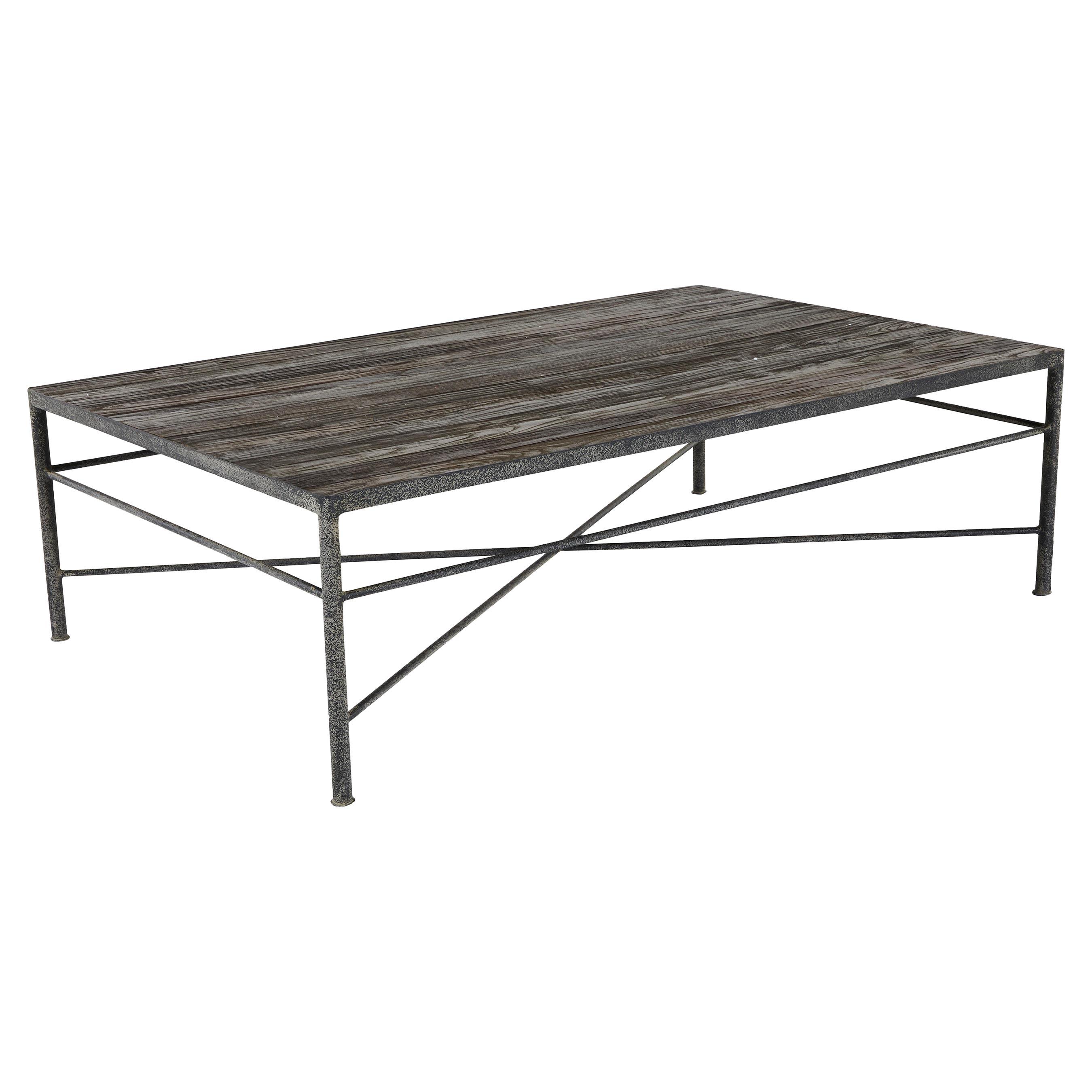 Isabelle Reclaimed Wood Metal Modern Rustic Coffee Table