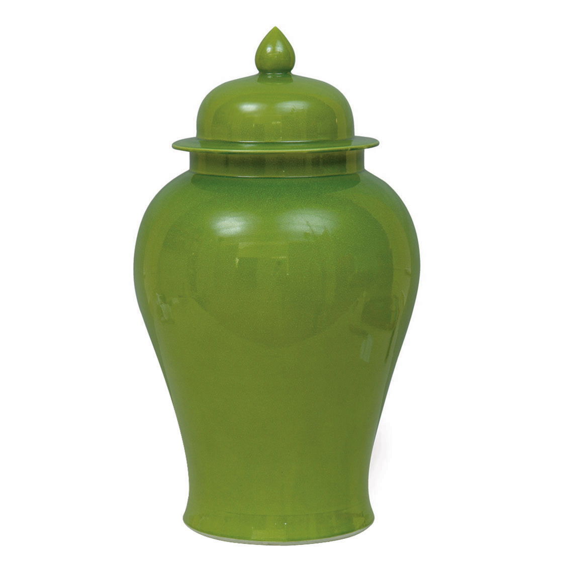 Green Apple Modern Asian Temple Lidded Ginger Jar