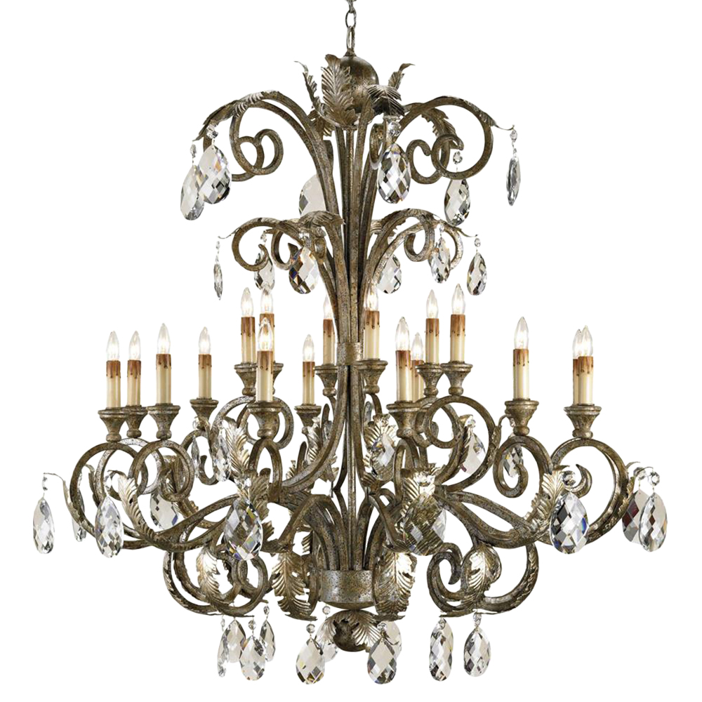 Requena Crystal Accent Large 18 Light Chandelier