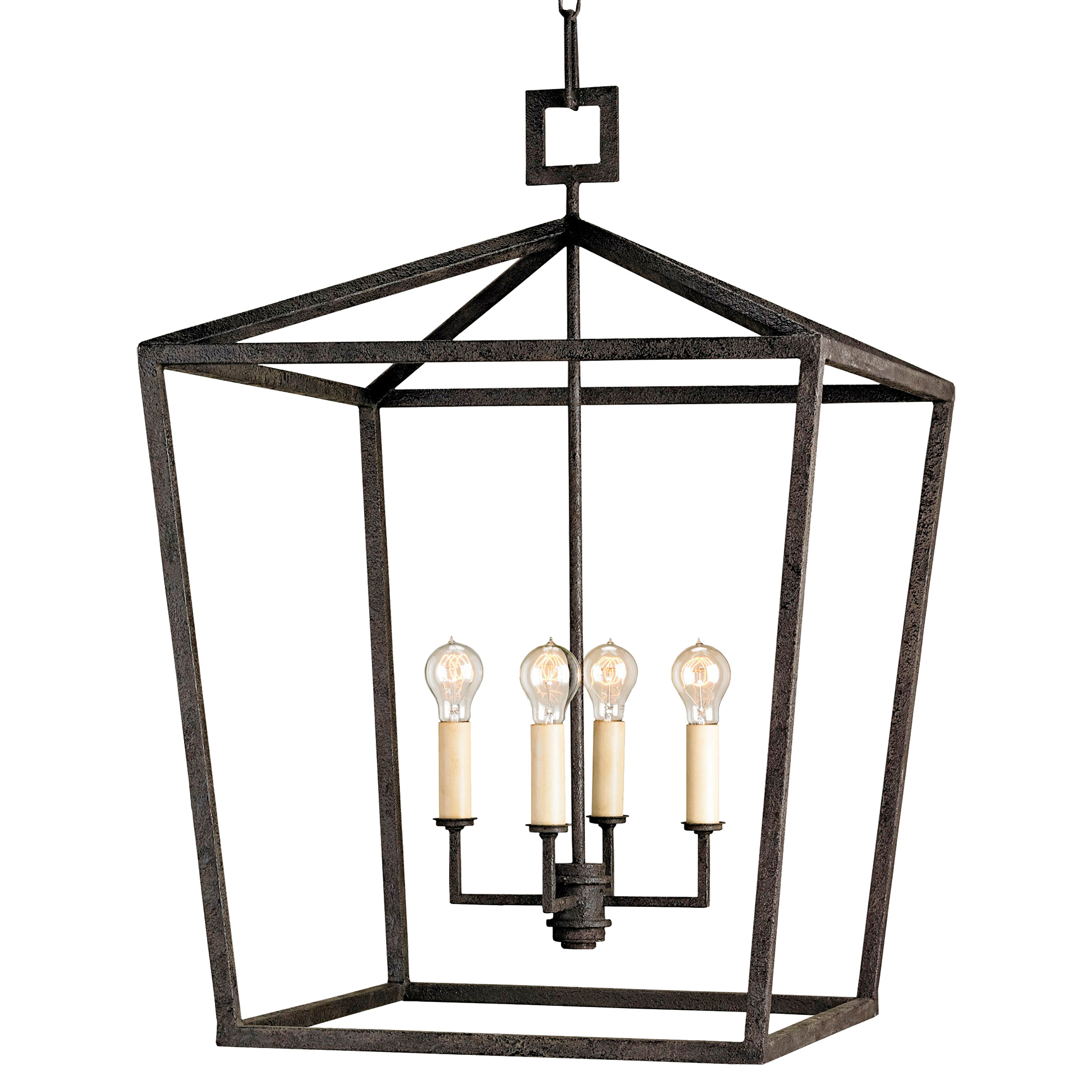 Darden 4 Light Industrial Chic Open Lantern Pendant