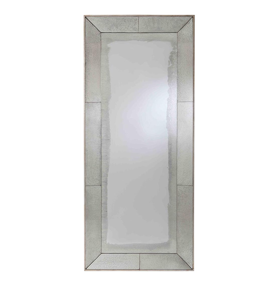 Vera Antiqued Mirror Contemporary Floor Mirror