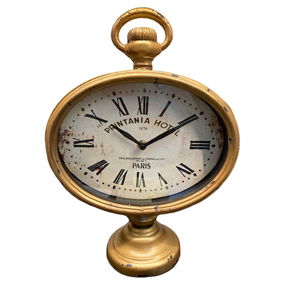 Printania Hotel Paris French Country Antique Brass Table Clock
