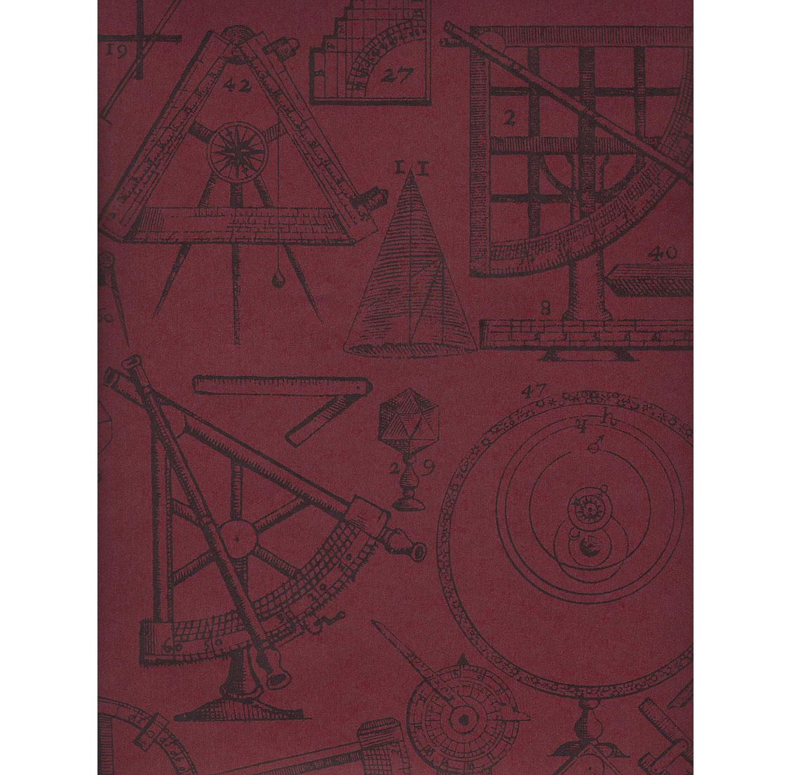 Industrial Scientific Newton Wallpaper - Red - 2 Rolls