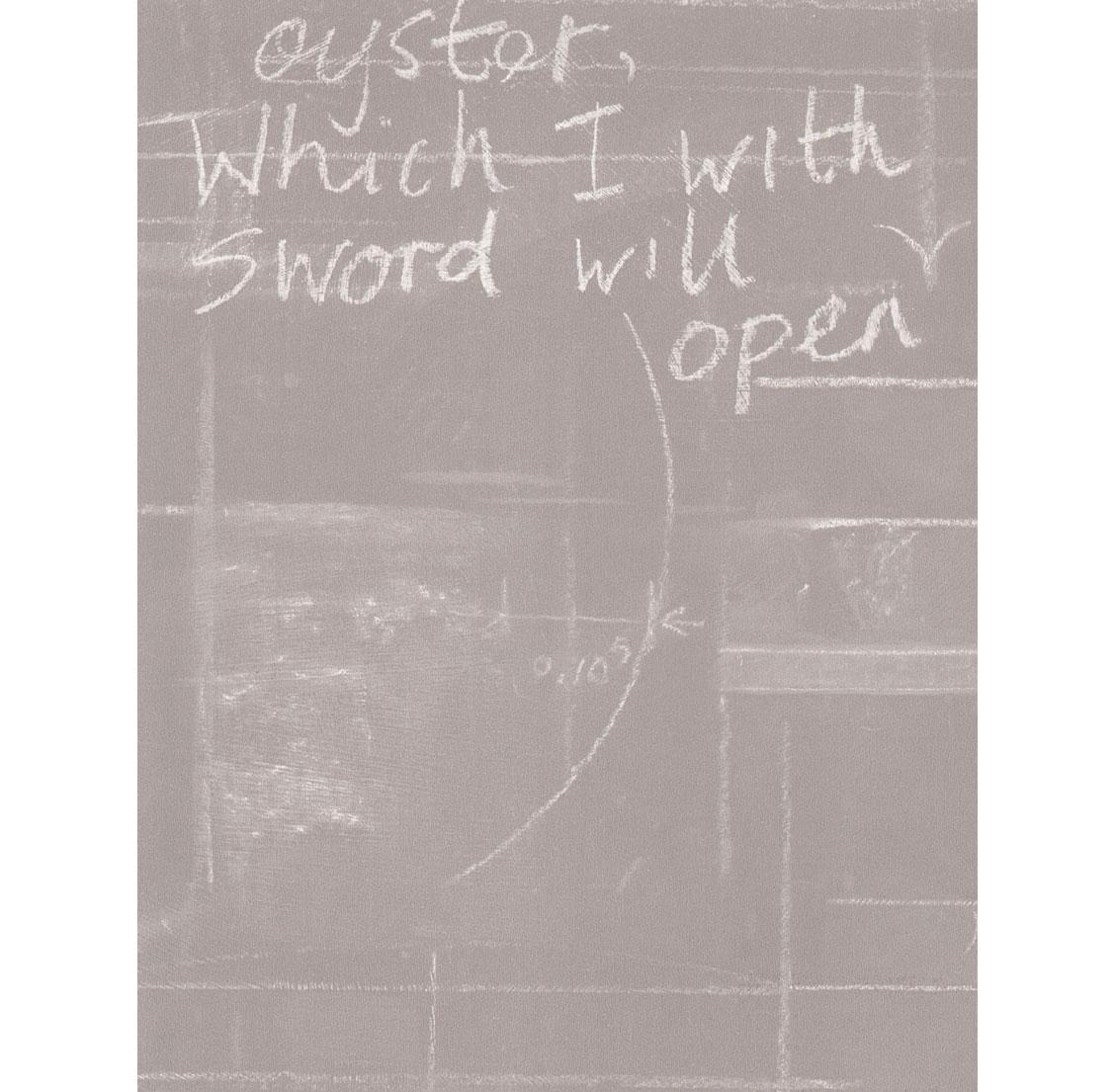 Eton Industrial Chalk Board Wallpaper - Grey