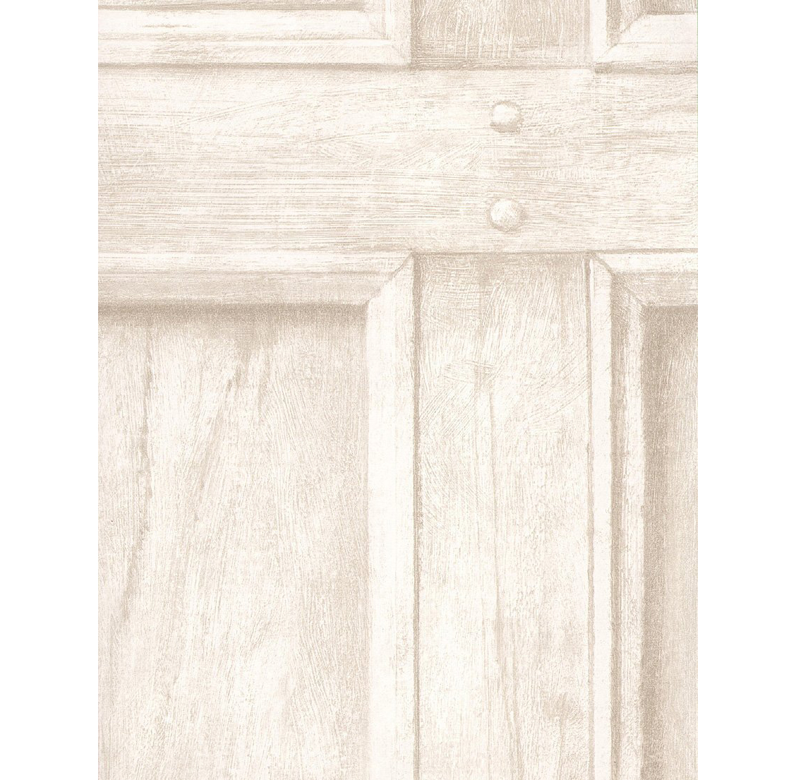 Traditional Aged Wood Panel Wallpaper - Ivory