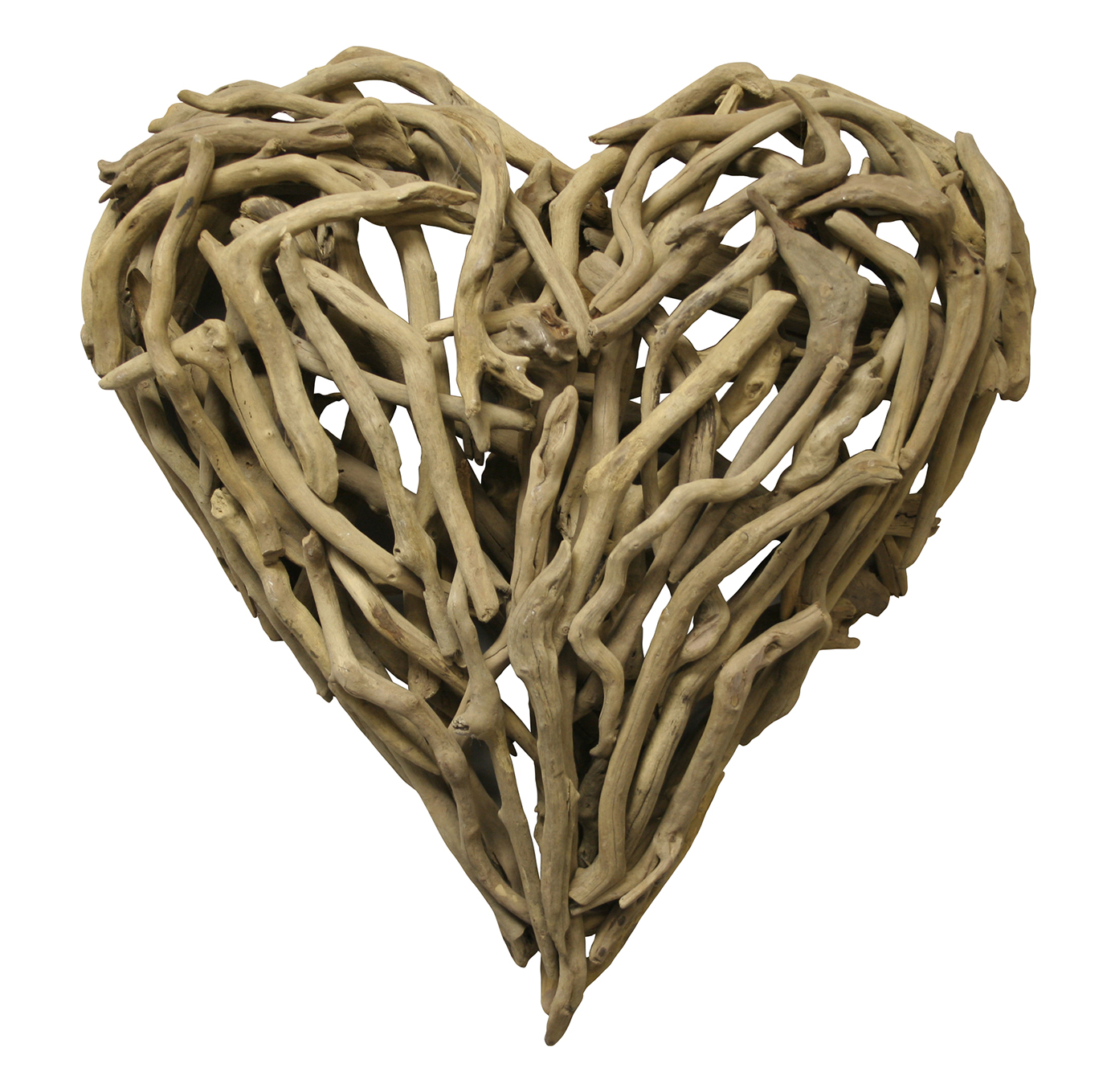 Driftwood Heart Sculpture 24 x 24