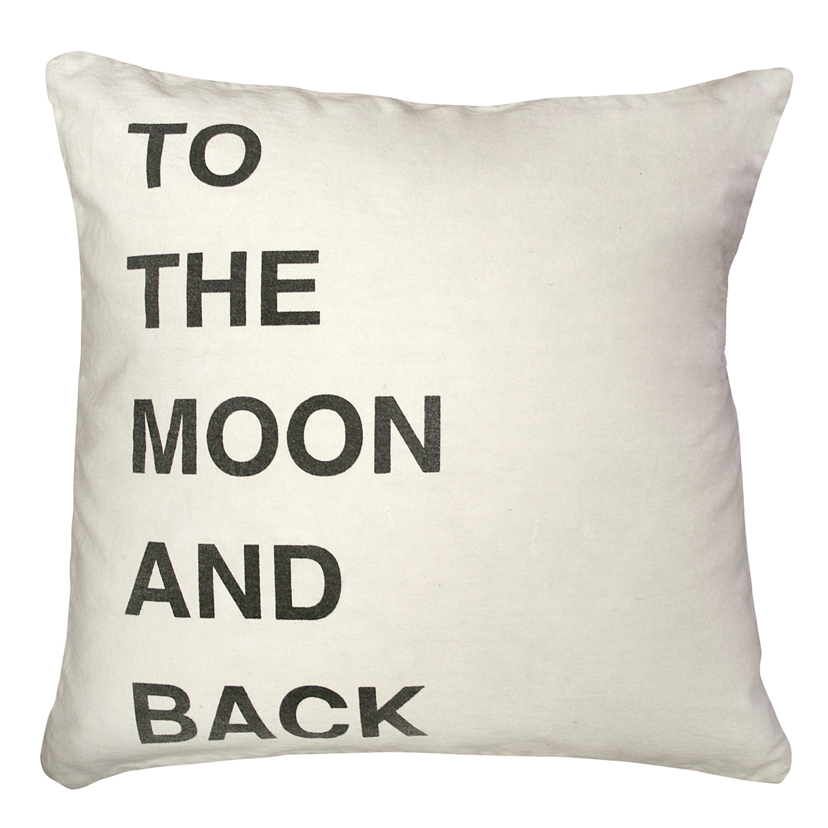 To The Moon and Back Bold Script Linen Throw Pillow - 24x24