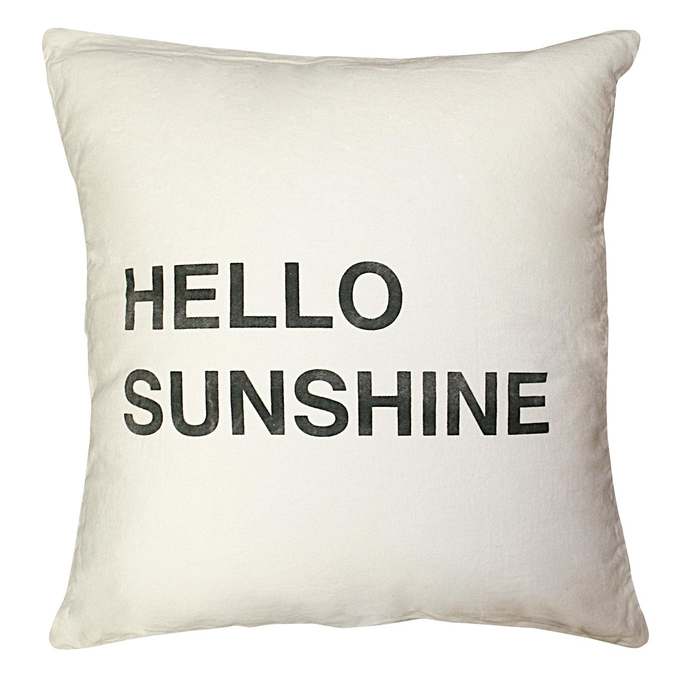 Hello Sunshine Bold Script Linen Down Throw Pillow - 24x24