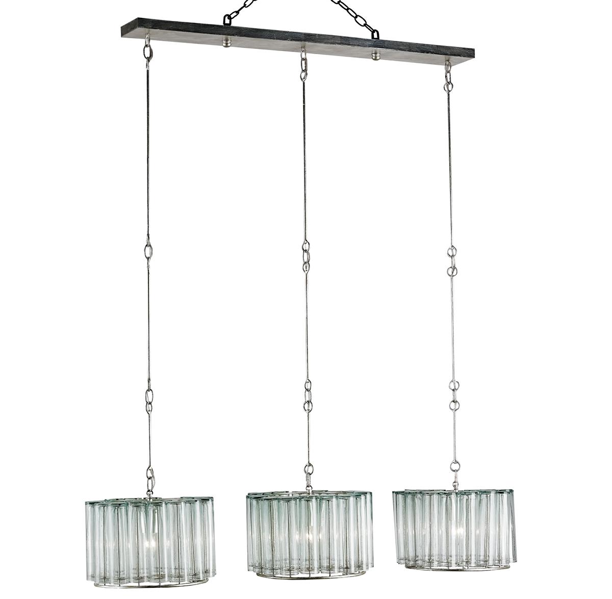 Industrial Loft Modern Bud Vase Round Adjustable Trio Pendant Island Light