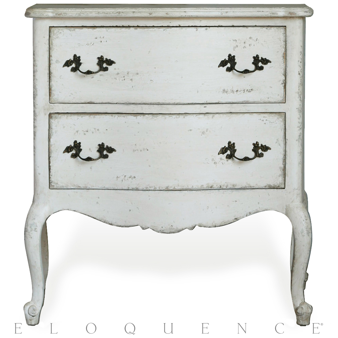 Eloquence® Clementine Nightstand in Antique White
