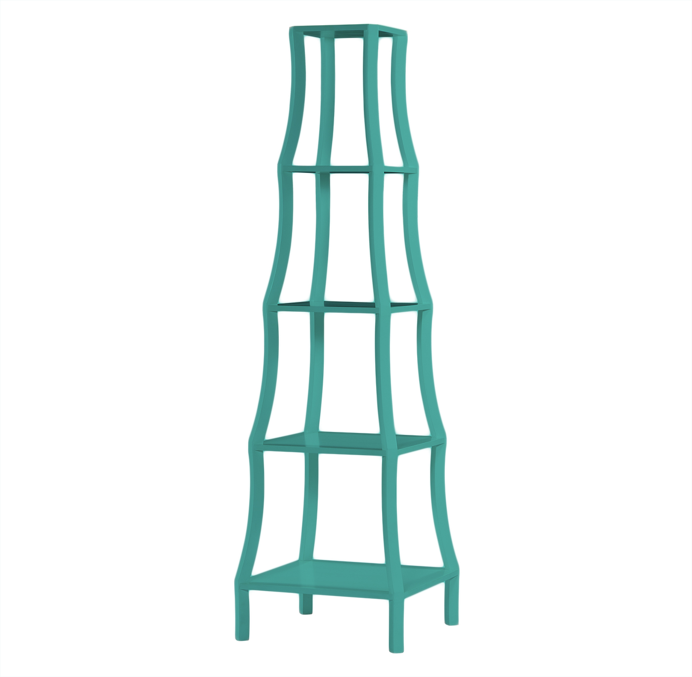 Chamberlain Hollywood Regency Turquoise 5 Tier Etagere
