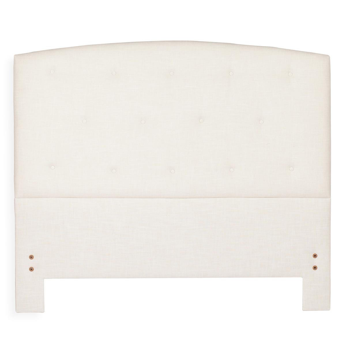 Eloise Modern Classic Tufted Ivory Linen Headboard - Queen