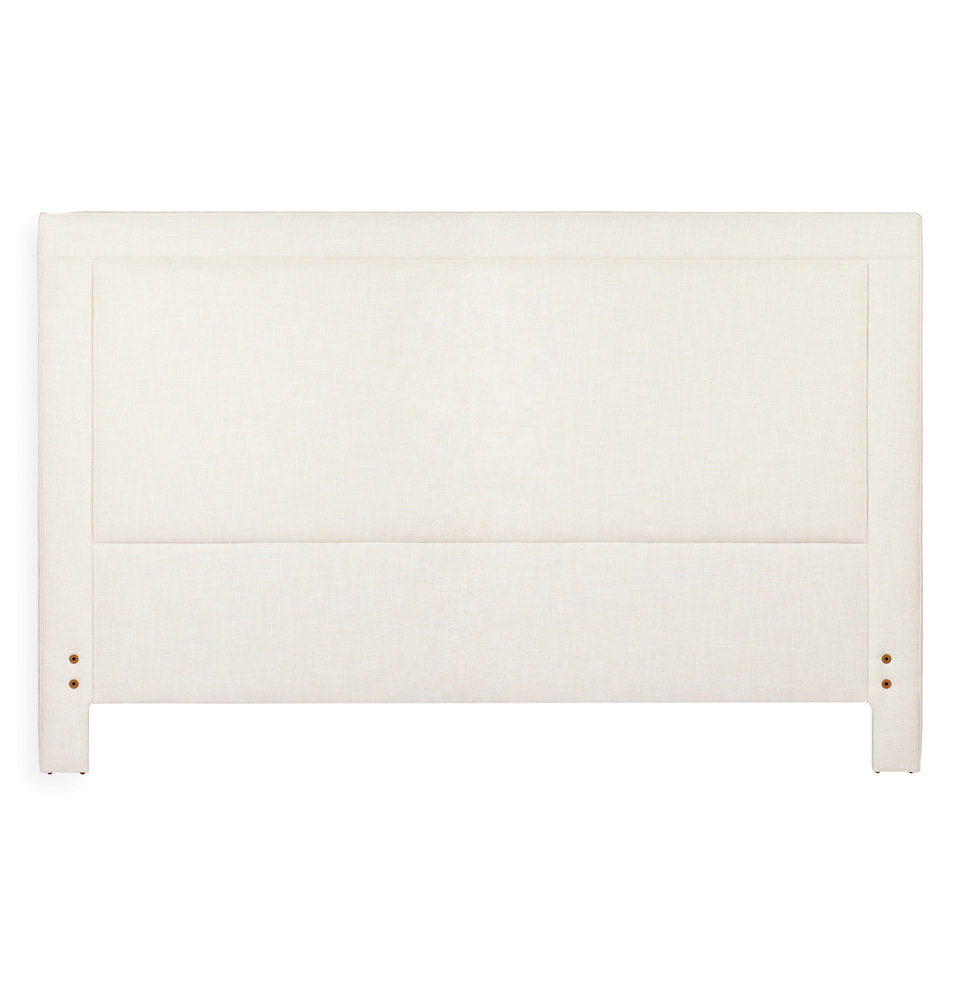 Sloan Modern Classic Square Banded Ivory Linen Headboard- King