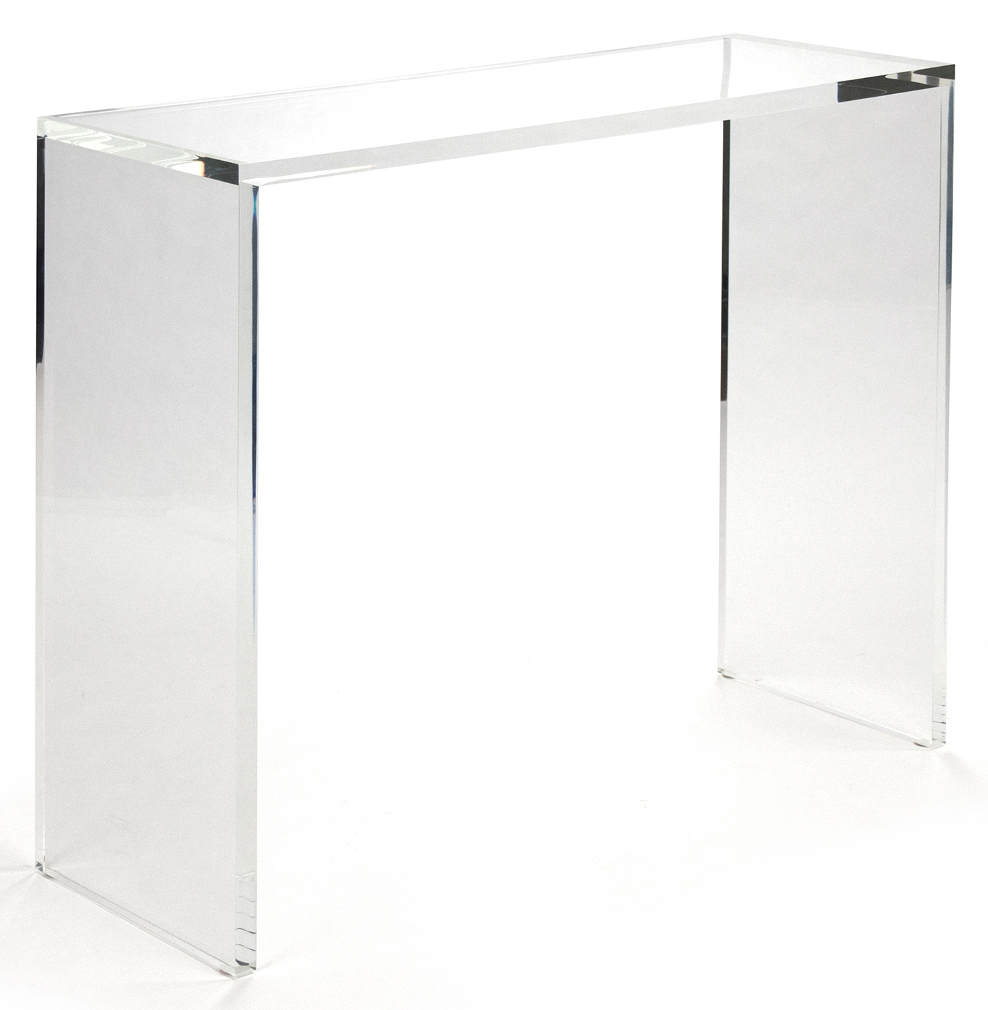 Clery Modern Classic Clear Acrylic Console - 40 Inch