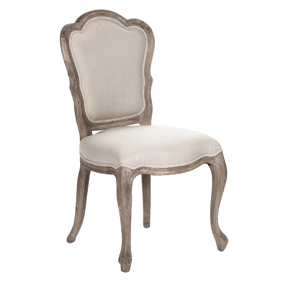 Pair Bertha French Country Scalloped Back Dining Chairs