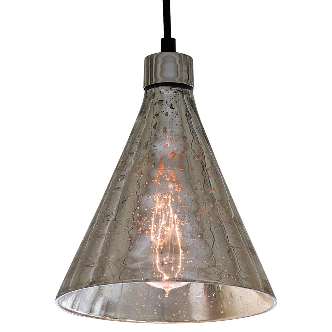 Motte Industrial Loft Antique Mercury Glass Beaker Pendant