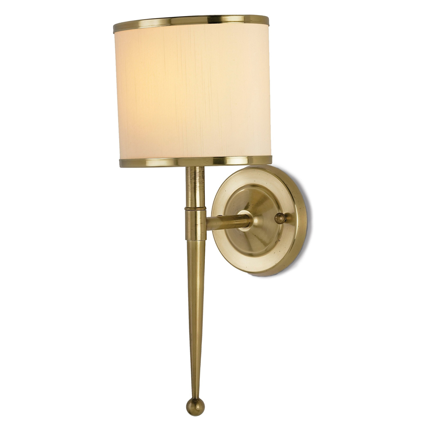 Primo Hollywood Regency Antique Brass Modern Wall Sconce