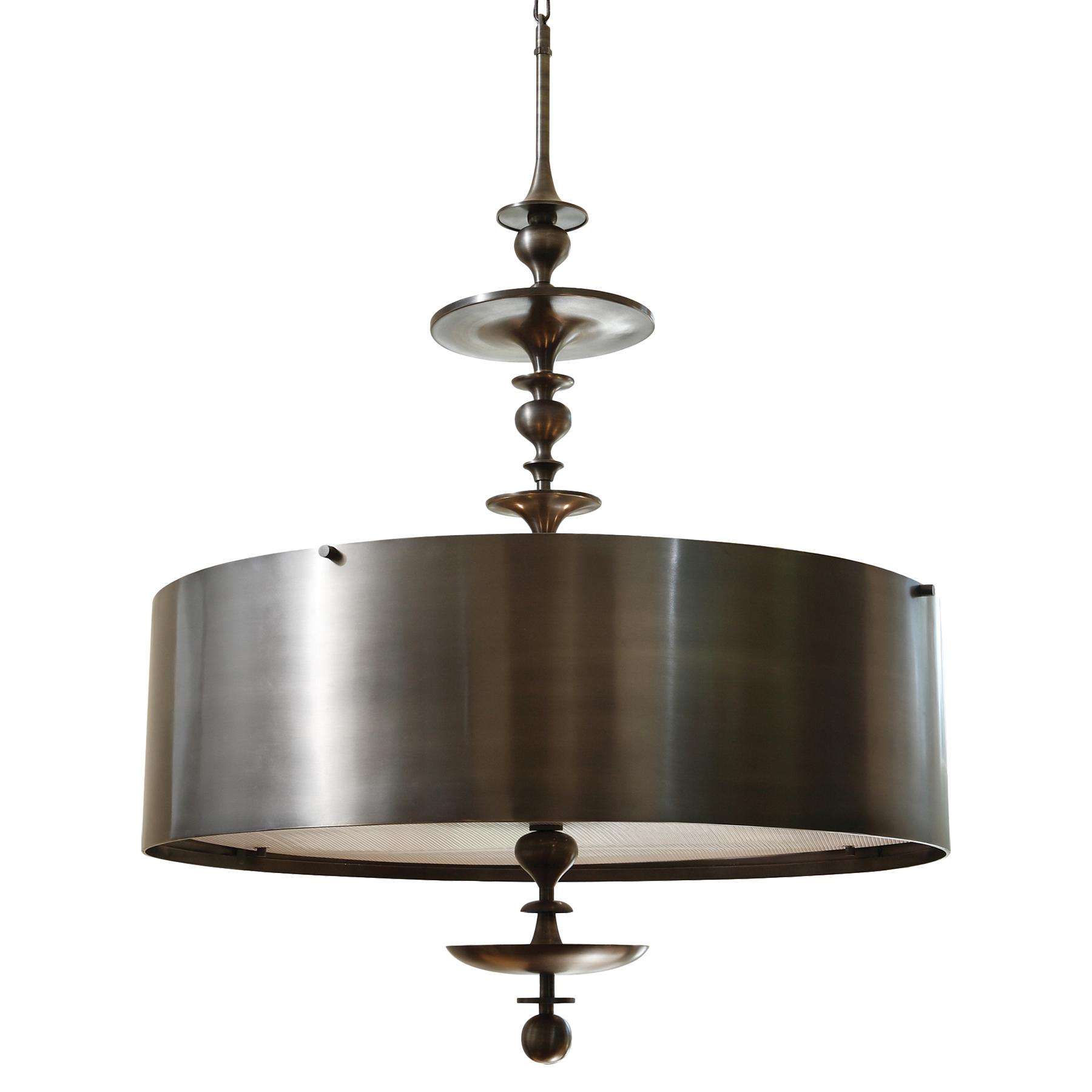 Karel Bronze Hollywood Regency Pendant Lamp - 30 Inch
