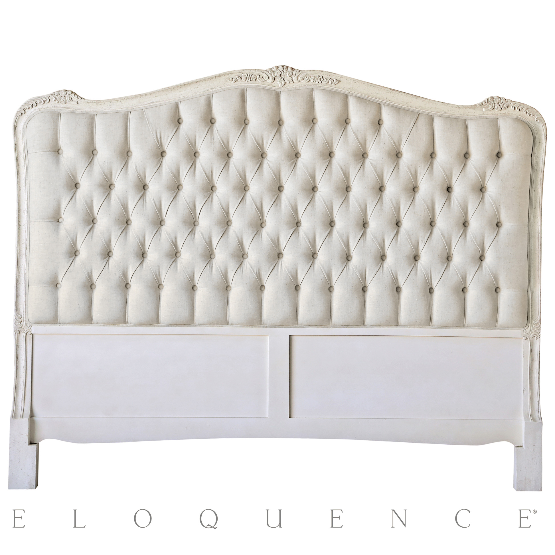 Eloquence® Sophia Queen Headboard in Weathered White