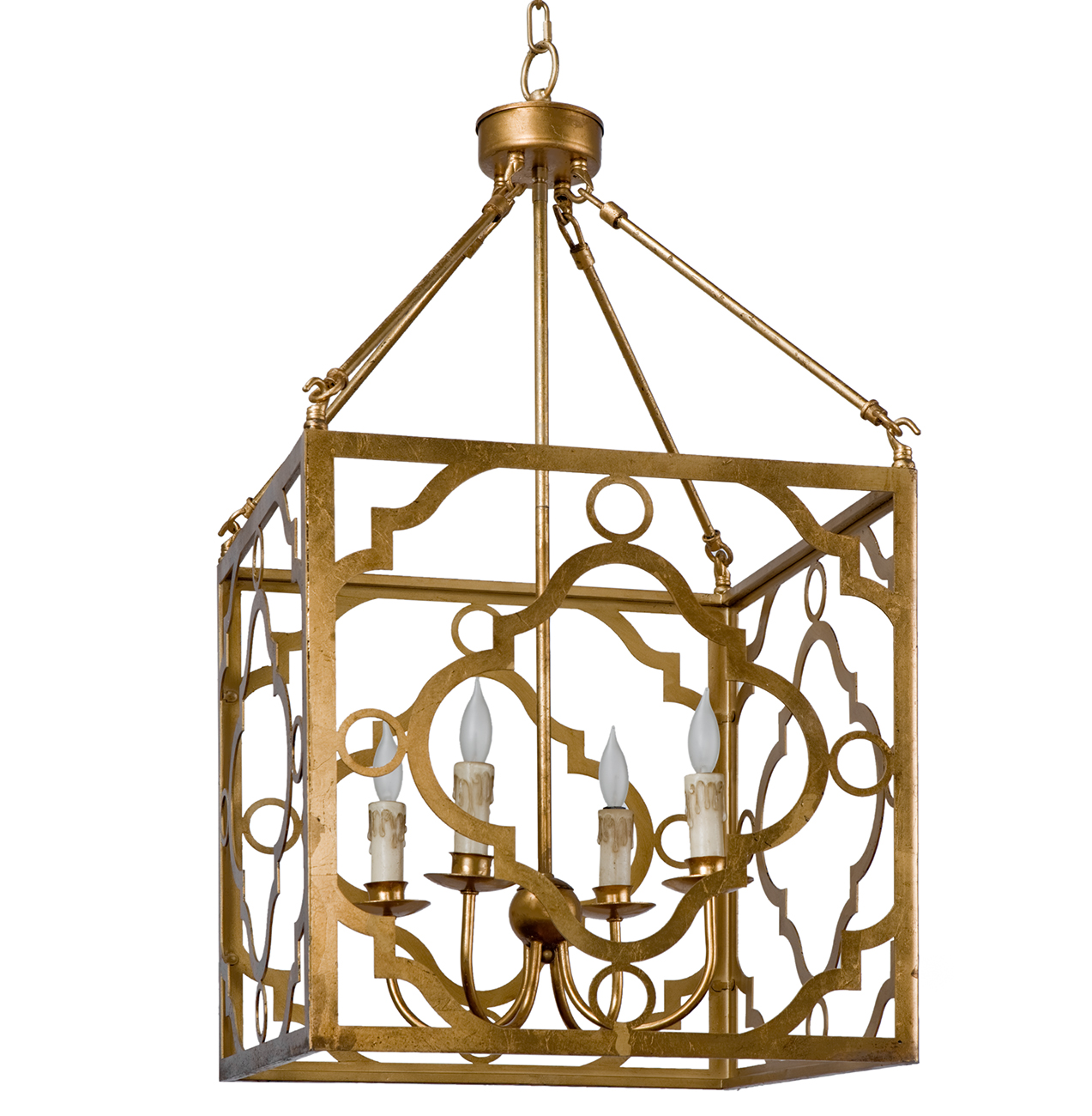 Bengala Global Bazaar Gold Metal Lantern Chandelier